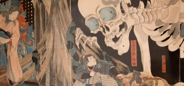 Utagawa Kuniyoshi, Princess Takiyasha Calling Up a Monstrous Skeleton Spectre at the Haunted Old Palace at S?ma, c.1844-1848