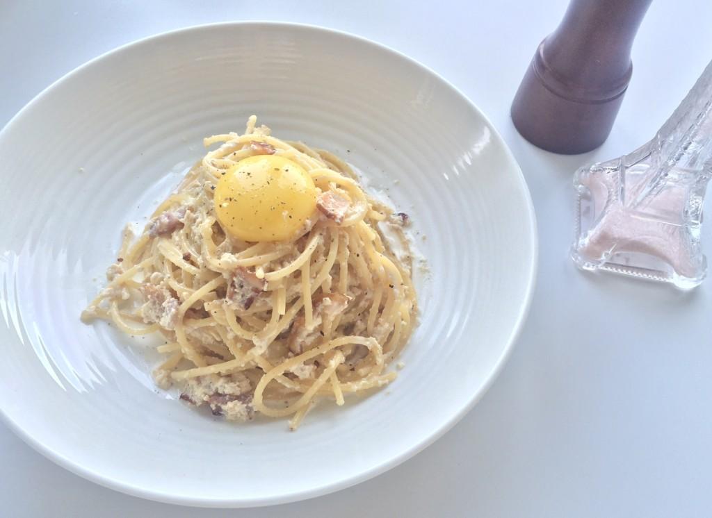 お豆腐カルボナーラ