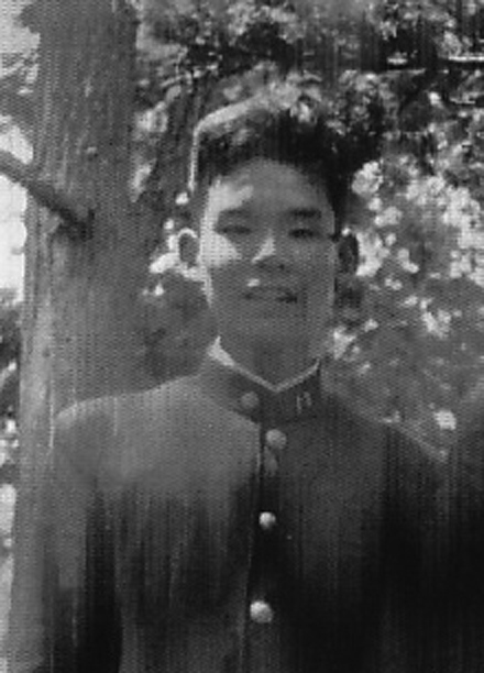 1954年、函館西高校1年当時の慧さん(Photo: courtesy of Kaye Kishibe)